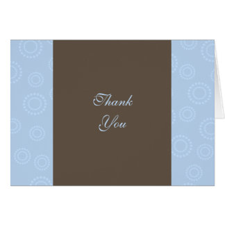 Fireworks Thank You Note (blue) Note Card