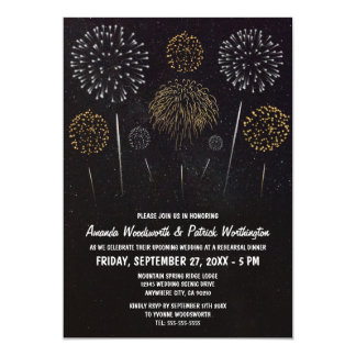 Fireworks Themed Rehearsal Dinner Invitations