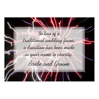 Fireworks Wedding Charity Favor Card Pack Of Chubby Business Cards