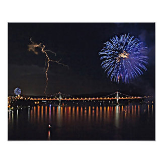 Fireworks With Lightning Photo Art