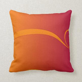 Firey Orange and Red Swirl Throw Cushion