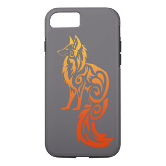 Firey Red Tribal Fox Kitsune iPhone 8/7 Case