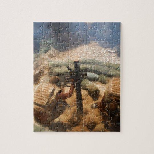 Firing a Mortar Jigsaw Puzzle