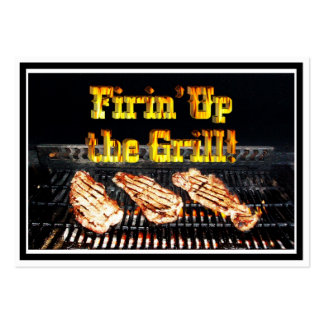 Firing up the Grill! BBQ Steaks Pack Of Chubby Business Cards