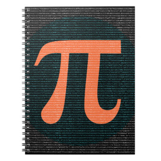 First 10,000 digits of Pi in blue and orange Notebook