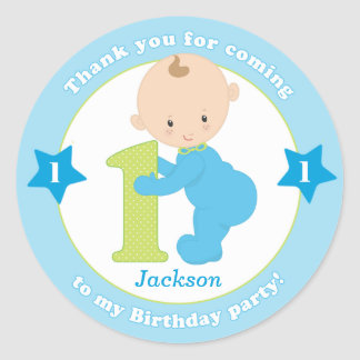 First 1st kids birthday sticker stickers favours