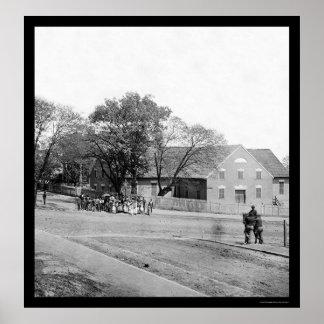 First African Church in Richmond, VA 1865 Poster