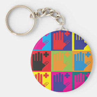 First Aid Pop Art Basic Round Button Key Ring