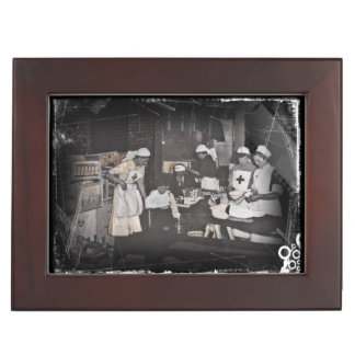 First Aid Station Nurses WWI Keepsake Box