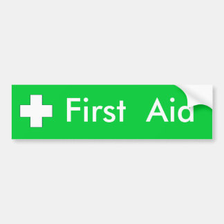 First Aid - Sticker Bumper Sticker