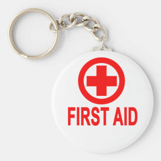 First aid Women's T-Shirts Basic Round Button Key Ring