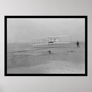 First Airplane Flight Kitty Hawk 1903 Poster