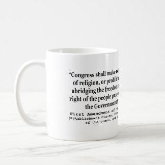 First Amendment of the United States Constitution Basic White Mug