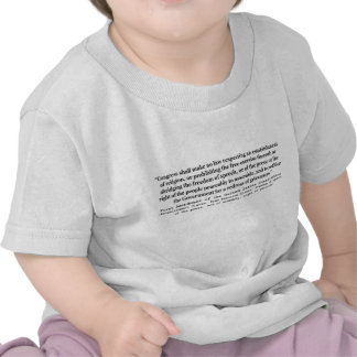 First Amendment of the United States Constitution T Shirts