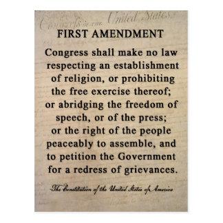 First Amendment Postcards