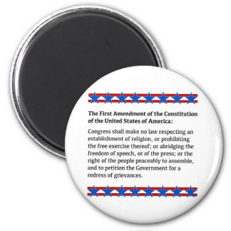 First Amendment Rights 6 Cm Round Magnet