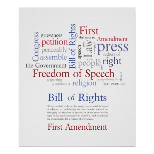 First Amendment Rights - Free Speech  / Expression Posters