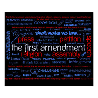 First Amendment 'Wordle' Poster