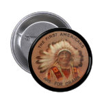 First Americans For Obama Button