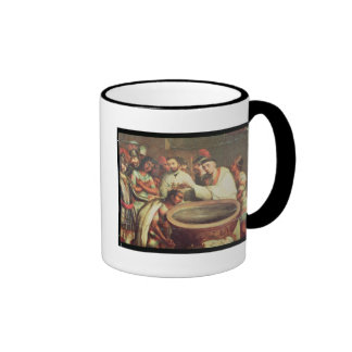 First Baptism of the Indians by the Dominicans Ringer Coffee Mug