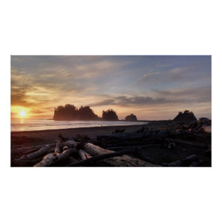 First Beach at La Push Washington Poster