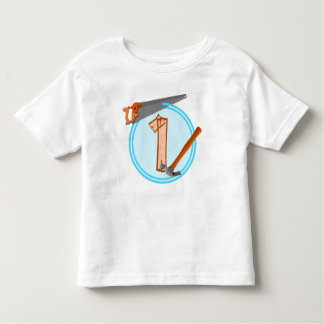 First Birthday 1 year old Tools Construction Party Toddler T-Shirt