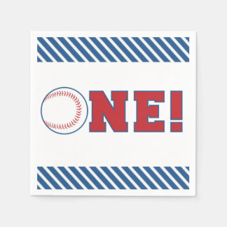 First Birthday Baseball Napkins Disposable Serviettes