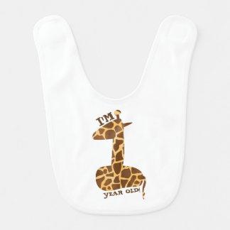 First Birthday Bib - Giraffe Theme