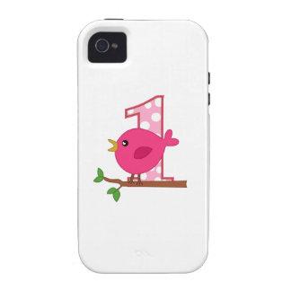 First Birthday Birdie Vibe iPhone 4 Case