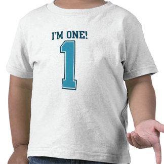 First Birthday Boy I m One Big Blue Number 1 Tees