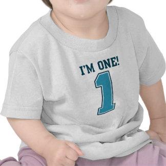 First Birthday Boy I m One Big Blue Number 1 T Shirt