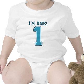 First Birthday Boy I m One Big Blue Number 1 Tee Shirts