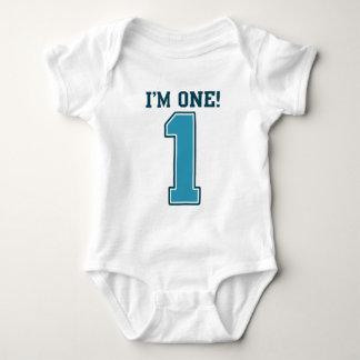 First Birthday Boy, I'm One, Big Blue Number 1 T Shirts