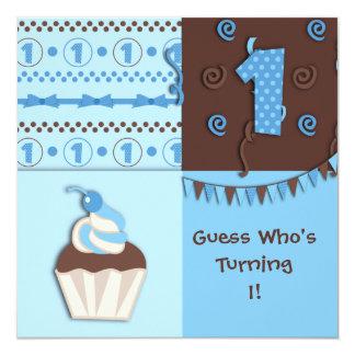 First Birthday Boy : Invitation