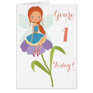 First Birthday Fairy Card