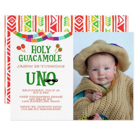 FIRST BIRTHDAY FIESTA - PHOTO CARD