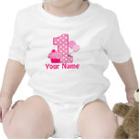 First Birthday Girl Pink Cupcake Romper