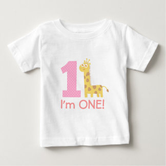 First Birthday, I'm One, Cute Giraffe Baby T-Shirt