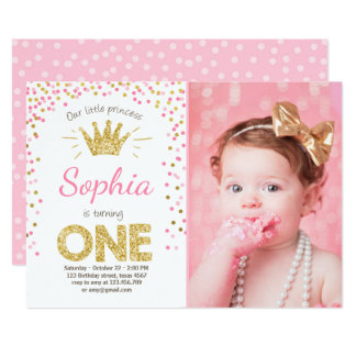 First Birthday Invitations & Announcements | Zazzle.com.au