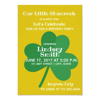 First Birthday Invite | Shamrock Themed Party