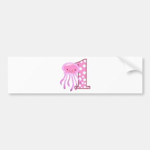 First Birthday Jellyfish Bumper Stickers