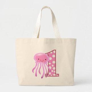 First Birthday Jellyfish Jumbo Tote Bag