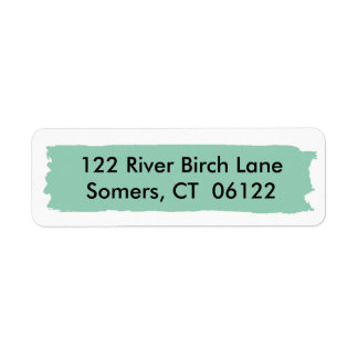 First Birthday Mint Ombre Cake, Matching Address Return Address Label