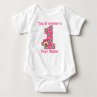 First birthday monkey personalized t-shirt
