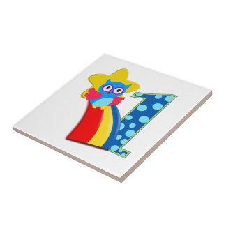 First Birthday Owl Tiles