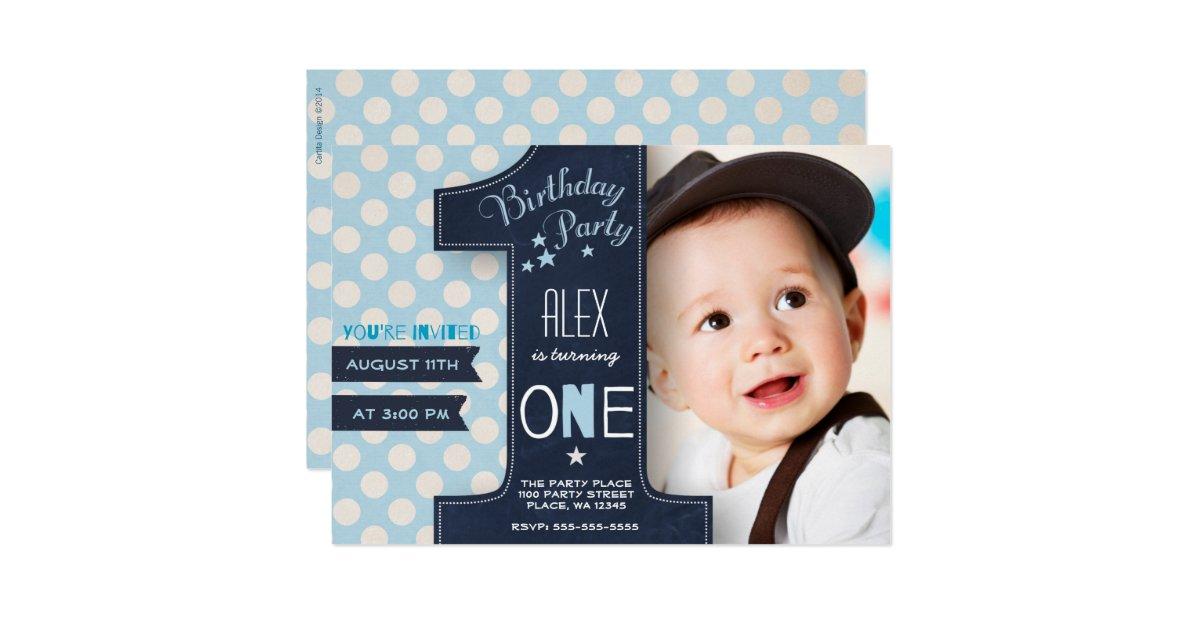 1st Birthday Invitations Announcements – 1 Birthday Party Invitations