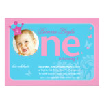 FIRST BIRTHDAY PARTY INVITES :: number one 1
