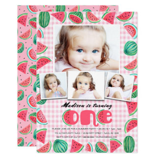 First Birthday Party | Watermelon | Invitations