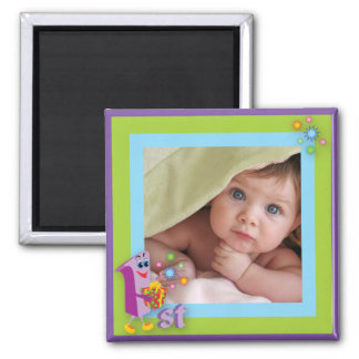 First Birthday Photo Frame Magnet