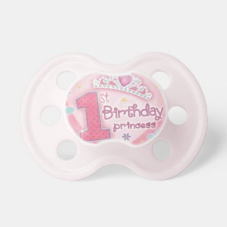 First Birthday Princess Baby Girl Pacifier